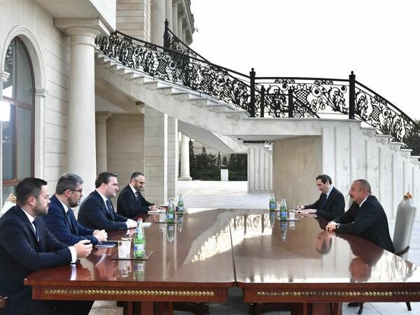 Prezident İlham Əliyev Serbiyanın xarici işlər nazirinin başçılıq etdiyi nümayəndə heyətini qəbul edib - FOTO