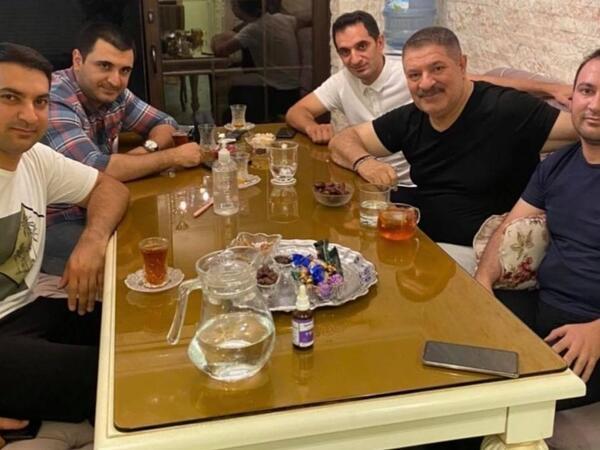 Ağadadaş Ağayev övladları ilə - FOTO