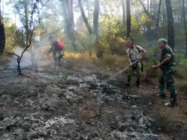 Yanğınsöndürənlərimiz Türkiyədə yanğınların söndürülməsində belə iştirak edirlər - VİDEO