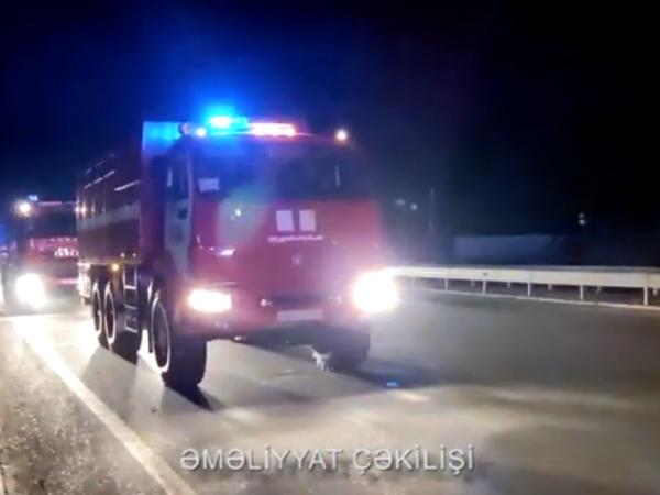Yanğın-xilasetmə qüvvələrinin növbəti qrupu Türkiyəyə gedir - VİDEO