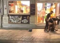 Qadınlar küçənin ortasında saçyolduya çıxdı - VİDEO