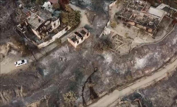 """Manavqatda baş verən faciəvi yanğına """"quş baxışı"""" - VİDEO"""