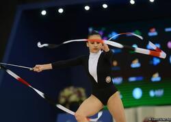 Zöhrə Ağamirova Olimpiya Oyunlarında lentlə hərəkətlərini təqdim edib