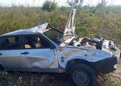 Lənkəranda avtomobil aşdı - sürücü öldü - FOTO