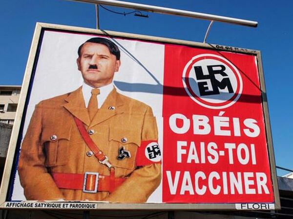 Makronu Hitlerə bənzədən şəxs cərimələndi