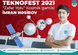 Teknofest festivalında Azərbaycanı təmsil edən ən gənc ixtiraçı
