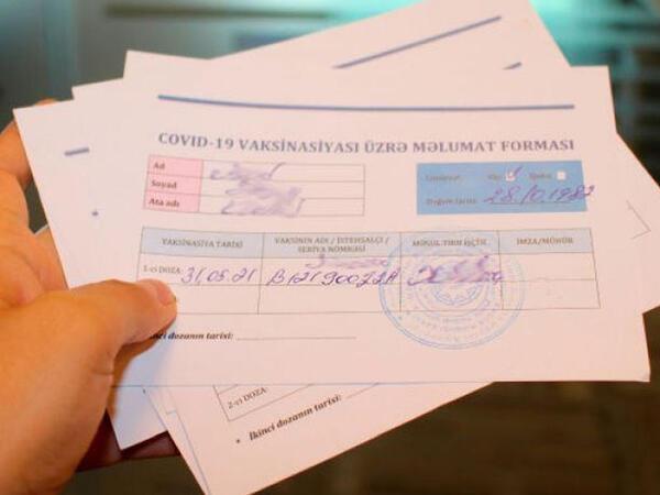 Lənkəranda saxta COVİD pasportu satan şəxslər ifşa olundu