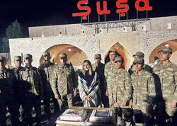 Xalq artistləri Şuşada - FOTO