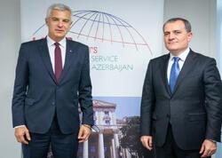 Ceyhun Bayramov slovak həmkarı ilə görüşdü
