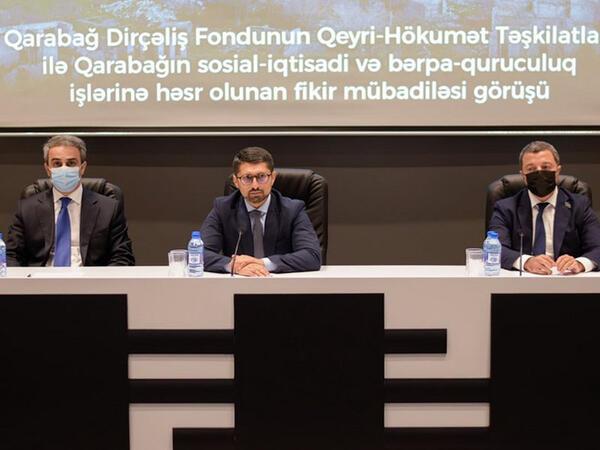 Qarabağ Dirçəliş Fondunun sədri QHT nümayəndələri ilə görüşüb - FOTO