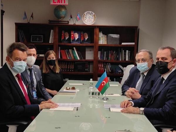 Ceyhun Bayramov BQXK-nin rəhbəri ilə fikir mübadiləsi aparıb - FOTO