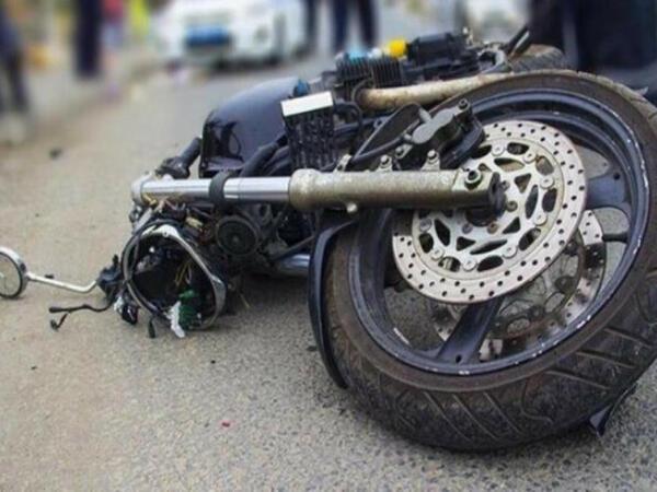 Mingəçevirdə motosiklet qəzası - Xəsarət alan var