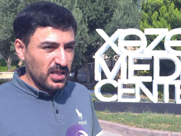 """&quot;Xəzər TV&quot;nin Vətən müharibəsində iştirak edən əməkdaşları təəssüratlarını bölüşüblər - <span class=""""color_red"""">VİDEO</span>"""