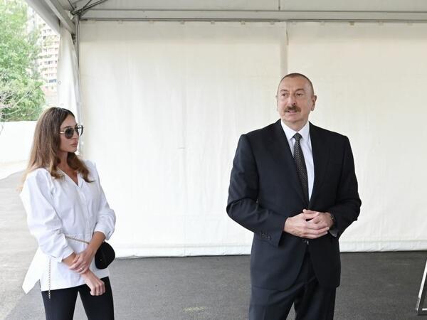 Prezident İlham Əliyev və birinci xanım Mehriban Əliyeva Füzuli rayon ictimaiyyətinin nümayəndələri ilə görüşüblər