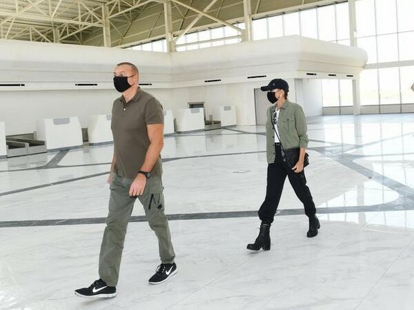 Prezident İlham Əliyev və Mehriban Əliyeva Füzuli Beynəlxalq Hava Limanında yaradılan şəraitlə tanış olublar