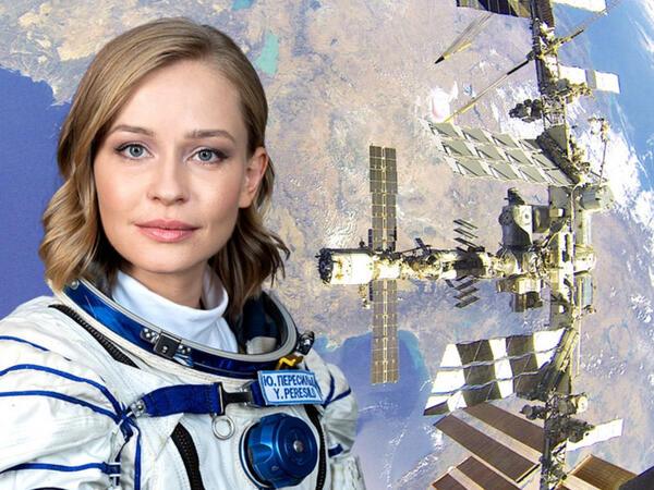 Kosmosa uçan aktrisa evinə qayıtdı