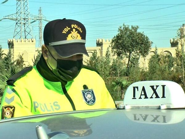 Peyvənd olunmayan taksi sürücüləri cərimələndi - VİDEO - FOTO