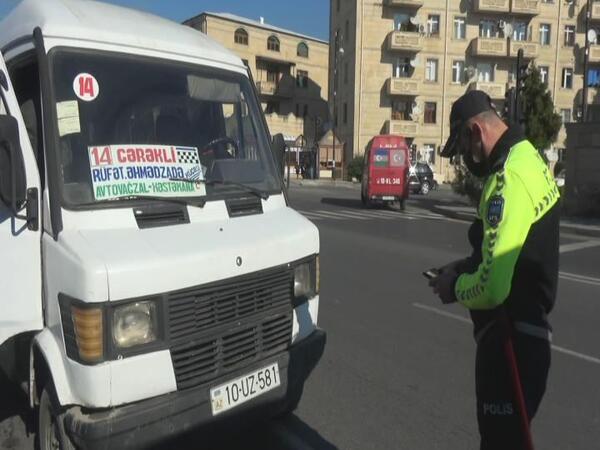 Maskasız sərnişinlər avtobusdan düşürüldü - Balakəndə reyd - VİDEO - FOTO