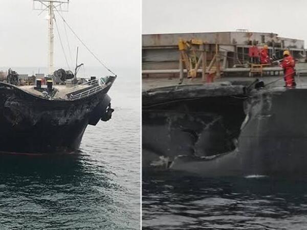 Mərmərə dənizində iki yük gəmisi toqquşdu