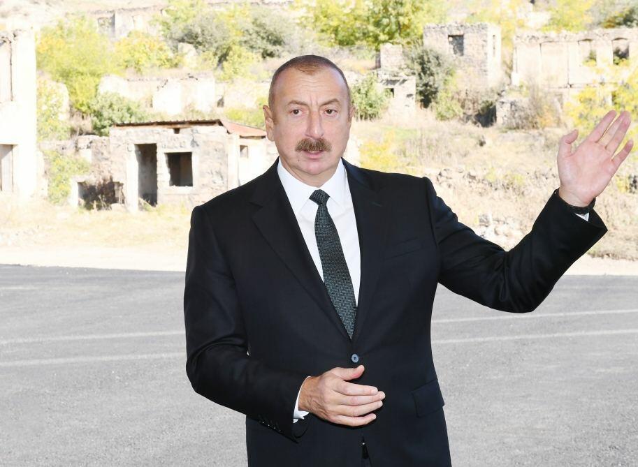 Prezident İlham Əliyev: Zəngilan hava limanı gələn il istifadəyə veriləcək